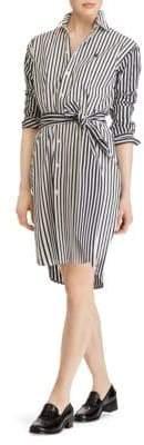 Ralph Lauren Striped Long Sleeve Shirt Dress