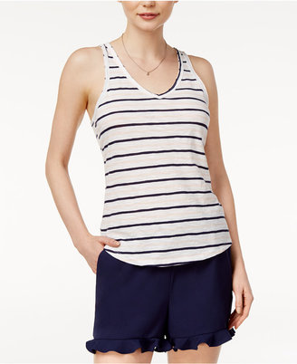 Maison Jules Cotton Striped Tank Top, Created for Macy's $24.50 thestylecure.com