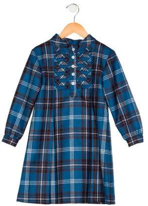 Oscar de la Renta Girls' Wool Plaid Dress