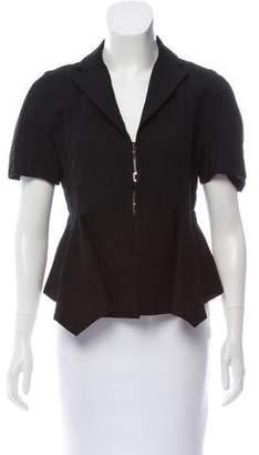 Marni Short Sleeve Notch-Lapel Top