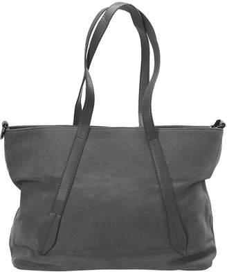 BMC Womens Canvas Material Crossbody Strap Double Top Handle Fashion Tote Handbag