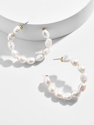 BaubleBar Dafina Pearl Hoop Earrings