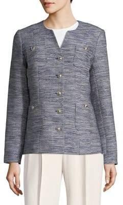 Karl Lagerfeld Paris Long-Sleeve Tweed Jacket