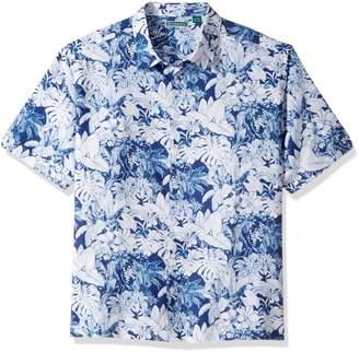 b287f782 Cubavera Cuba Vera Men's Tall Short Sleeve 100% Rayon Point-Collar Tropical  Floral Print