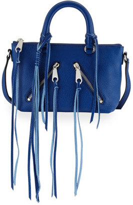 Rebecca Minkoff Micro Moto Leather Satchel Bag, Cobalt $195 thestylecure.com