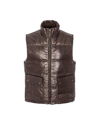 Puffa Woodland Leather Gilet