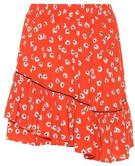 Ganni Silvery Crêpe miniskirt