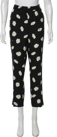 Kate Spade New York High-Rise Floral Pants