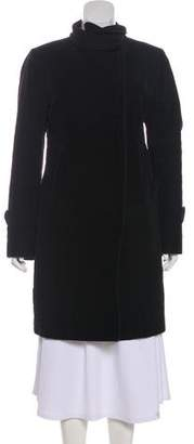 CNC Costume National Collared Knee-Length Coat