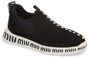 Miu Miu Logo Slip-On Sneaker