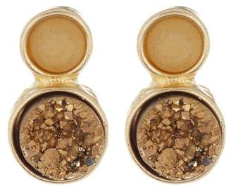 Melrose and Market Round Druzy & Stone Stud Earrings