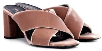 Saint Laurent Loulou 70 velvet sandals