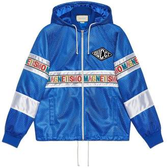 "Gucci Net jacket with ""Magnetismo"" stripe"