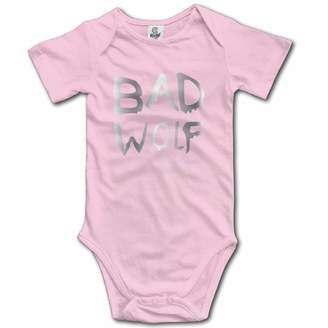 CHJGYGGV Girls' Boys' Infant Bad Wolf Doctor Who Romper Jumpsuit Bodysuit