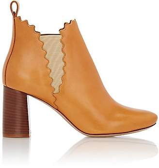 Chloé Women's Scalloped Ankle Boots - Peanut Butter