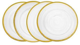 Godinger Alabaster White & Gold Dessert Plates - Set of 4