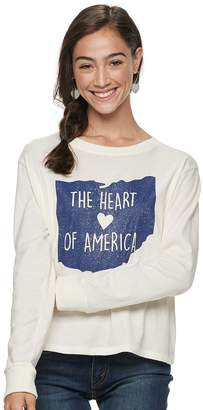 """Fifth Sun Unbranded Juniors' Ohio """"The Heart of America"""" Graphic Top"""