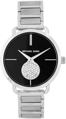 Michael Kors MK3638 Silver-Tone Crystal Accented Watch