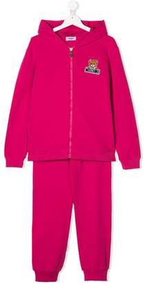 Moschino Kids TEEN Teddy embroidered tracksuit