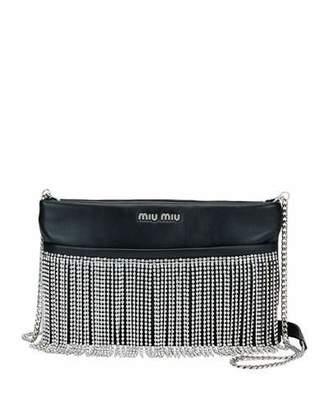 608ad09d2ae9 Miu Miu Fringe Crystal Napa Crossbody Bag
