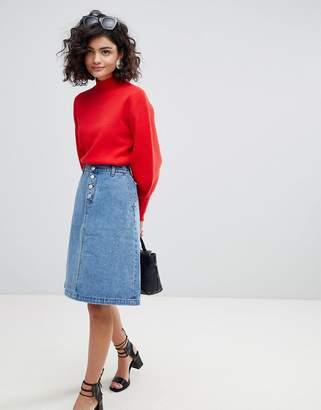 Selected A-Line Denim Skirt