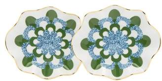La DoubleJ Set Of Two Mosaico Blu Bonbon Dishes - Womens - Blue Multi