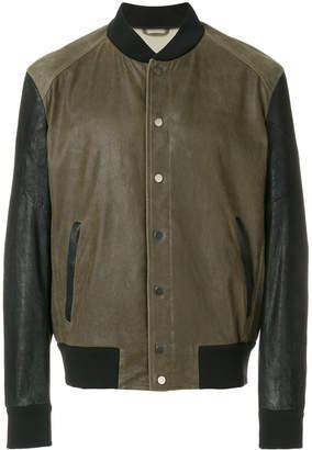 Drome contrast detail bomber jacket