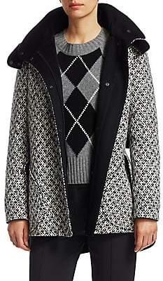 Akris Punto Women's Shetland Tweed Hooded Parka