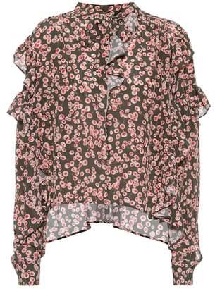Isabel Marant Sibel printed silk top