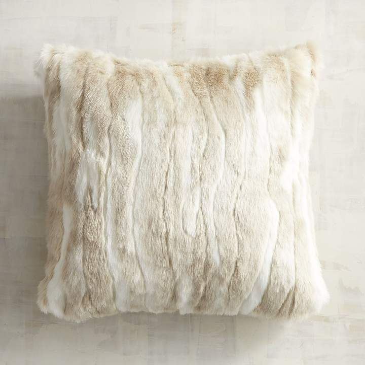 Luxe Faux Fur Rabbit Pillow