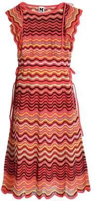 M Missoni Gathered Crochet-Knit Cotton-Blend Dress