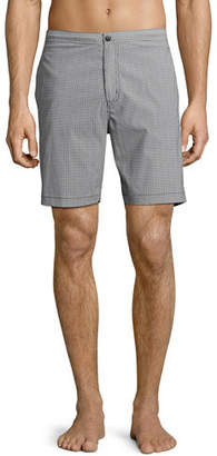 Theory Alesso Cube-Print Swim Trunks $145 thestylecure.com