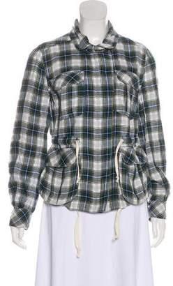 Etoile Isabel Marant Plaid Zip-Up Jacket