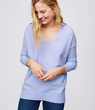 LOFT Slouchy V-Neck Sweater
