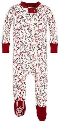 Burt's Bees Berry Branches Organic Baby Zip Up Footed Pajamas