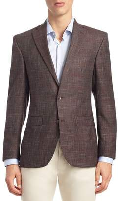 Saks Fifth Avenue Textured Wool & Bamboo Sportcoat