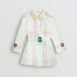Burberry Childrens Showerproof Single-breasted Trench Coat