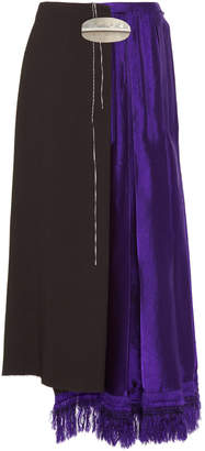 Marni Double Sable Satin Midi Skirt
