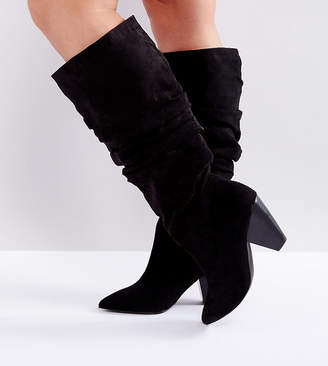 Asos Cadet Wide Fit Slouch Knee Boots