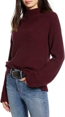 Treasure & Bond Ribbed Funnel Neck Sweater