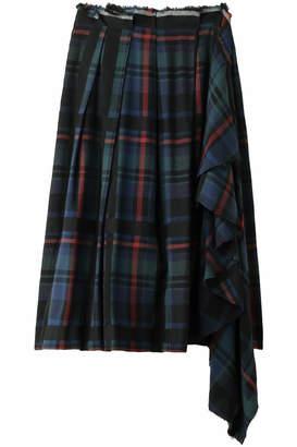 REKISAMI (レキサミ) - レキサミ チェックサイドフリルロングスカート