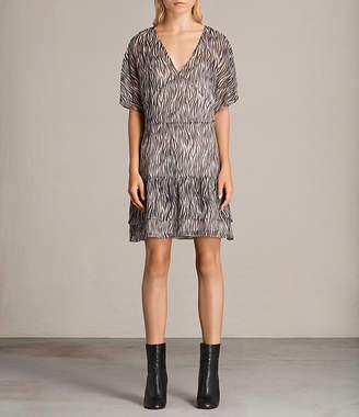 AllSaints Marley Zebra Dress
