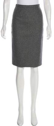 Celine Knee-Length Wool Skirt
