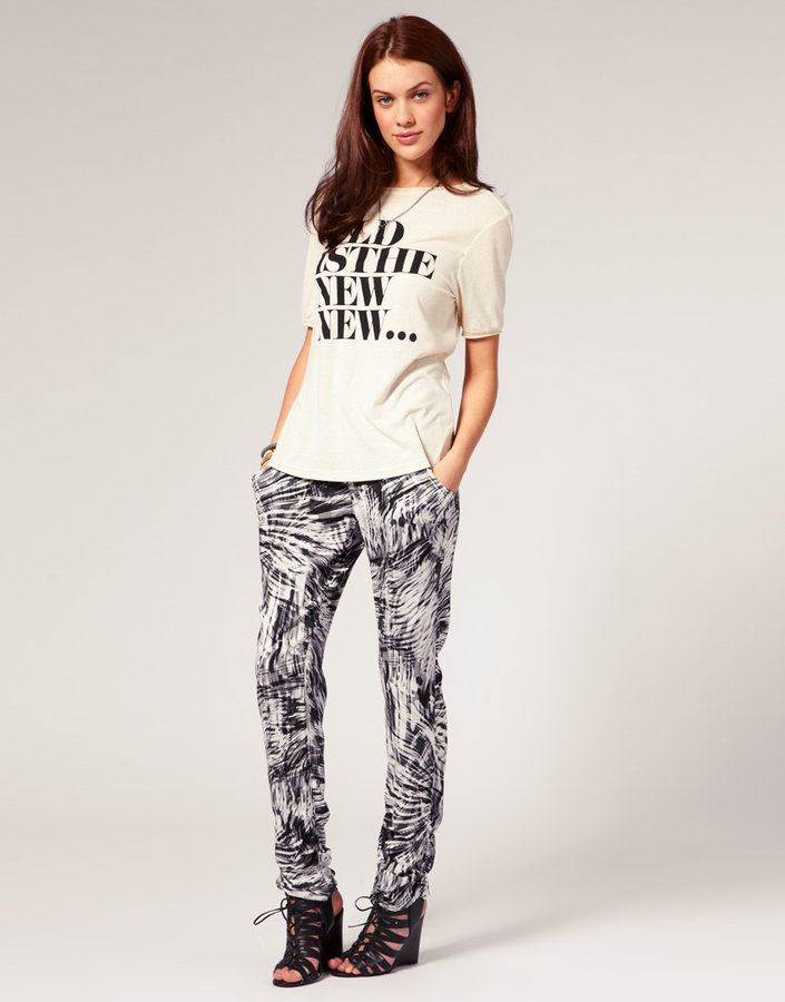 Vila Pants Abstract Printed