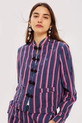 Topshop Striped Jacquard Jacket