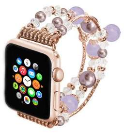 Unbranded Jeweled Replacement Band for Apple Watch Series 1,2,&3-Rose Gold and Pink 42MM