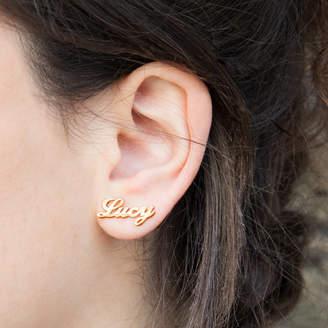 Anna Lou of London Name Earrings