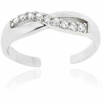 Top Seller CZ Sterling Silver Infinity Toe Ring