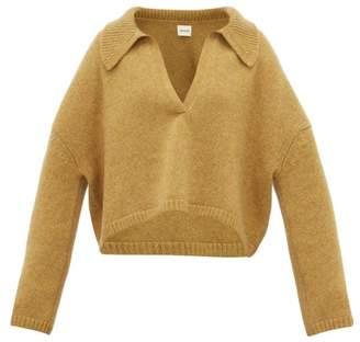 KHAITE Shelley Oversized Cashmere Sweater - Womens - Beige