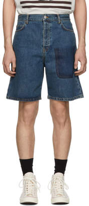 J.W.Anderson Blue Denim Shaded Pocket Shorts